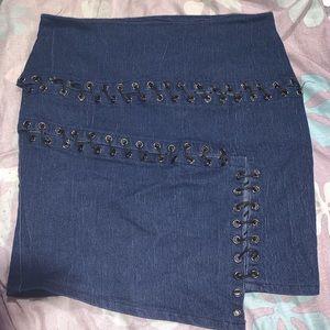 Dark blue mini skirt